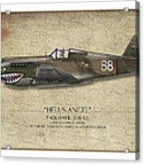 Flying Tiger P-40 Warhawk - Map Background Acrylic Print by Craig Tinder