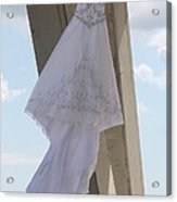 Flying Wedding Dress 2 Acrylic Print