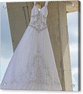 Flying Wedding Dress 3 Acrylic Print
