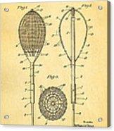 Flynn Merion Golf Club Wicker Baskets Patent Art 1916 Acrylic Print