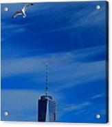 Flyover One World Trade Center Acrylic Print