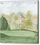 Focus On The Flag Acrylic Print