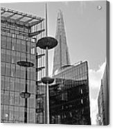Focus On The Shard London In Black And White Acrylic Print