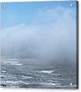 Fog Advances On The Oregon Coast Acrylic Print