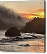 Fog And Fire Acrylic Print by Adam Jewell