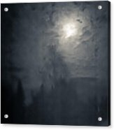Fog And Moon Acrylic Print