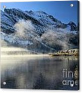 Fog At Swiftcurrent Acrylic Print