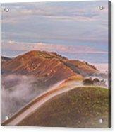 Fog Between Hills At Sunrise Acrylic Print