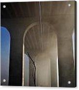 Fog Bridge Acrylic Print