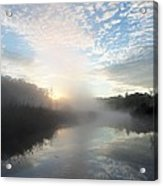 Fog Covered River Acrylic Print