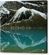 Fog Has Lifted From Lake Louise Acrylic Print