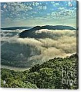 Fog In The Grand View Valley Acrylic Print