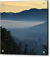 Fog Invades The Evans Valley Acrylic Print
