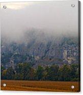 Fog On The Bluffs Acrylic Print