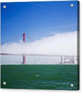 Fog On The Bridge Acrylic Print