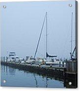 Fog On The Marina - Jersey Shore Acrylic Print