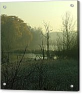 Fog On The Pond Acrylic Print