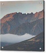 Fog Over Mountain At Dawn, Aorakimount Acrylic Print