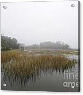 Fog Over The Marsh Acrylic Print