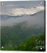 Fog Over The Smokies Acrylic Print
