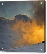 Foggy At Sunset 3000 Meters Acrylic Print