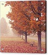 Foggy Autumn Morning Etna New Hampshire Acrylic Print