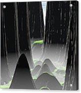 Foggy Canyon Pass Acrylic Print