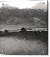 Foggy Countryside Acrylic Print