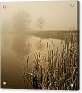 Foggy Day At Silver Lake Acrylic Print