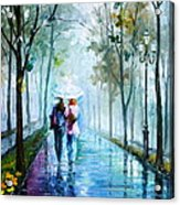 Foggy Day New Acrylic Print by Leonid Afremov