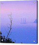 Foggy Evening In Portofino Acrylic Print