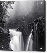 Foggy Falls Acrylic Print
