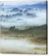 Foggy Flatlands - Blue Ridge Parkway Acrylic Print