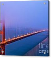 Foggy Golden Gate Bridge Acrylic Print