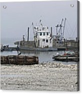 Foggy Harbor Acrylic Print by Pamela Patch