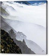 Foggy Hillside Acrylic Print
