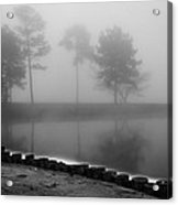 Foggy Landscape Acrylic Print