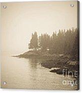 Foggy Maine Coast Acrylic Print