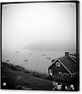 Foggy Manana in Black and White  Acrylic Print