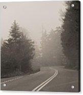 Foggy Morning Drive Acrylic Print