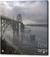 Foggy Morning In Newport Acrylic Print