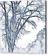 Foggy Morning Landscape - Fractalius 2 Acrylic Print