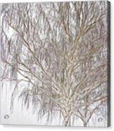 Foggy Morning Landscape - Fractalius 4 Acrylic Print by Steve Ohlsen
