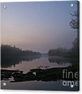 Foggy Morning On The River Acrylic Print