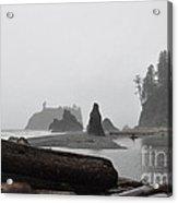 Foggy Morning On The Washington Coast Acrylic Print