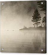 Foggy Morning On The Water Acrylic Print