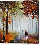 Foggy Morning - Palette Knife Contemporary Landscape Oil Painting On Canvas By Leonid Afremov - Size Acrylic Print
