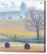 Foggy Morning Acrylic Print by Thomas  MacPherson Jr