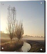 Foggy Morning With Nice View Acrylic Print