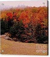 Foggy Mountain Landscape Acrylic Print